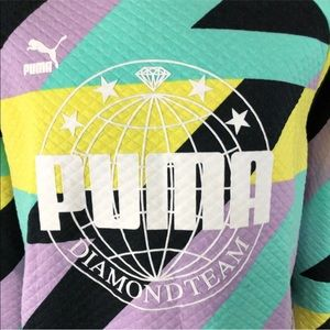 Puma Sweaters - Puma X Diamond Crew Limited Abstract Mult Sizes